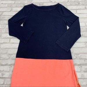 J Crew Jersey Knit Colorblock Long Sleeve Dress S